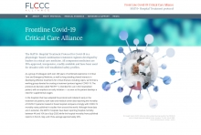 "Website of the <strong>FLCCC Alliance</strong>, USA (since 2020): <a href=""http://www.covid19criticalcare.com"" target=""Websites designed by Frank Benno Junghanns"">www.covid19criticalcare.com</a>"