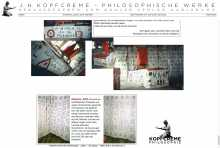 "Webseite des Philosophen J. H. Kopfcreme, Karlsruhe (seit 2003): <a href=""http://www.weinblume.de"" target=""Websites designed by Frank Benno Junghanns"">www.kopfcreme.de</a>"